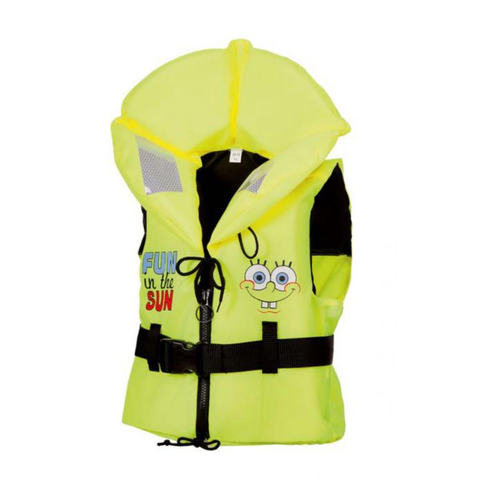 Rettungsweste von Marinepool | Kinder Feststoff-Schwimmweste ISO Freedom 100N Spongebob