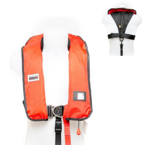 Schwimmweste von Marinepool | Automatik-Rettungsweste ISO 180N Premium Harness Pro Sensor