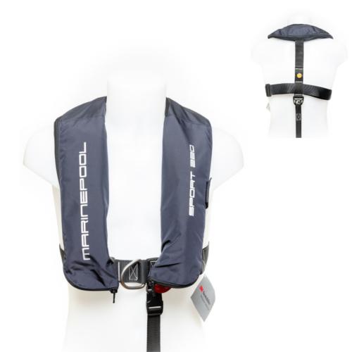 Schwimmweste von Marinepool | Automatik-Rettungsweste ISO 220N Sport Navy